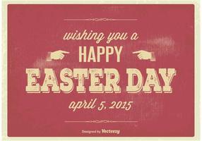Poster tipográfico de Easter do vintage vetor