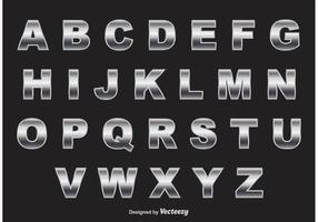 Vector de alfabeto cromado