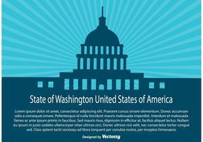 Ilustração do Estado de Wasington vetor
