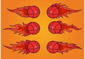 Basquetebol em vetores de fogo