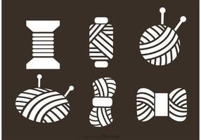 Ícones de vetores de bola de fios