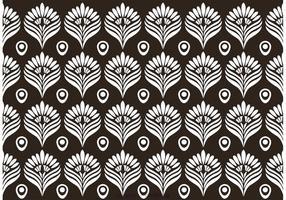 Vector preto e branco do teste padrão do pavão