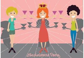 Ilustração da festa de despedida de solteira vetor
