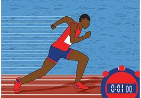 Ilustração vetorial de atletismo vetor