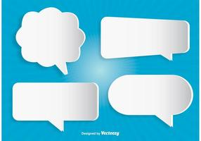 Vetores modernos da bolha da fala