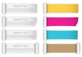 Bandeiras do vetor de papel Scrolled