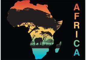 Vetor Silhueta da África