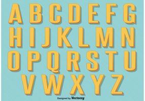 Alfabeto retro do vintage vetor