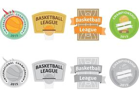 Logos vetoriais de basquetebol vetor