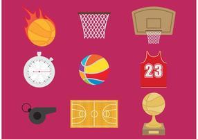 Ícones de vetor de basquete