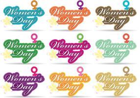Vetores do dia da mulher