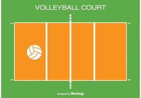 Ilustração do Tribunal de Voleibol vetor