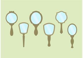 Vetores de espelho de mão vintage