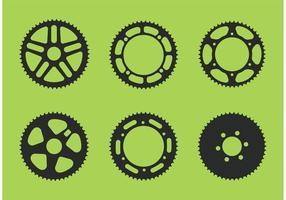 Vetor de roda dentada de bicicleta