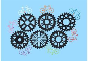 Engrenagens de vetores de motos de bicicleta