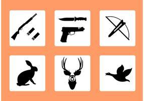 Ícones de vetor de caça