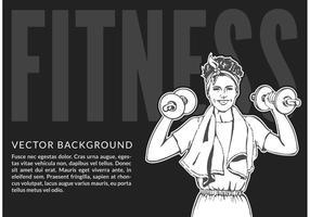 Ilustração vetorial de fitness feminina grátis