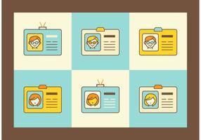 Cartões vetoriais de indentificação retro gratuita vetor