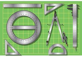 Vetores de ferramentas Tabs de medição