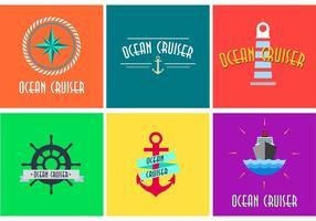 Logotipo do cruzeiro oceânico vetor