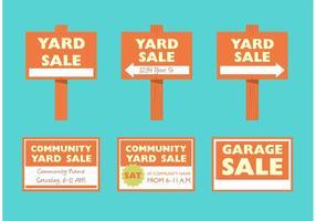 Sinais de venda de quintal vetor