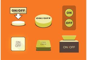 Em botões desligados vetor