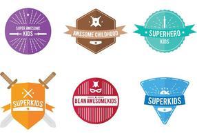 Emblemas vetoriais superkids vetor