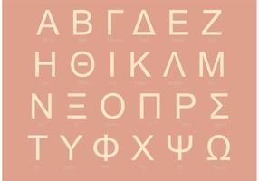 Conjunto de alfabetos gregos Sans Serif vetor
