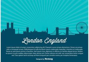 Ilustração da skyline da cidade de Londres