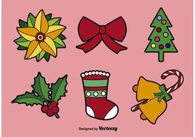 Ilustrações dos elementos do vetor de natal