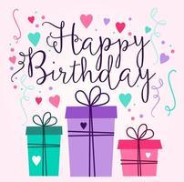 Design de cartão de aniversário vetor