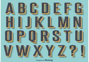 Alfabeto retro do estilo do vintage vetor