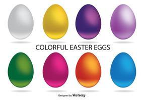 Vetores de ovo de páscoa coloridos