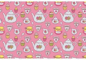 Vetor de padrão de chá grátis