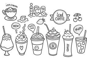 Pacote livre de vetores de café gelado