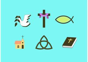 Conjunto de vetores religiosos da Páscoa