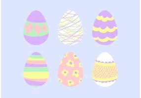 Conjunto de design de vetores de ovos de pascoa