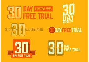 30 dias grátis versão livre de teste vetor