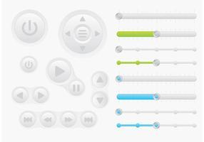 Botões de vetores de interface