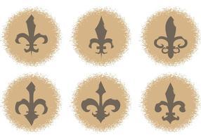 Ícones de vetor de flor de lis