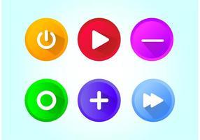 Vetores de botões brilhantes
