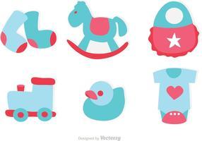 Vetor dos ícones dos brinquedos do bebê