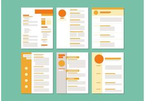 Modelos de layout Curriculum Vitae vetor