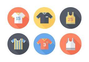 Ícones vetoriais de esportes grátis jersey vetor