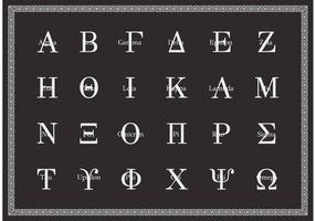 Vetor em letras maiúsculas de alfabeto grego grátis