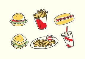 Vetor de desenhos animados de fast food