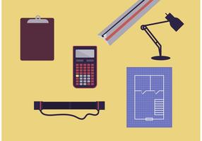 Conjunto de vetores de ferramentas de arquitetura