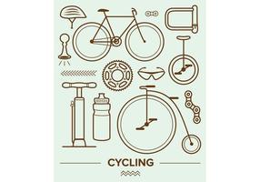 Ícones vetoriais de ciclismo vetor