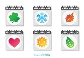 Vetores de ícones de calendários sazonais