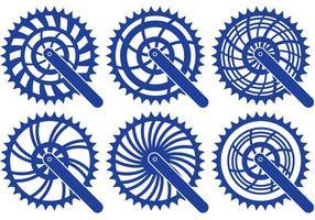Vetores de pinhão de bicicleta
